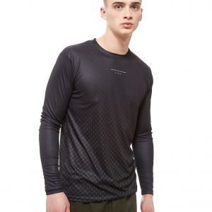 Creative Recreation House Pattern Ombre Long Sleeve T-Shirt Musta