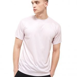 Creative Recreation House Pattern Ombre T-Shirt Vaaleanpunainen