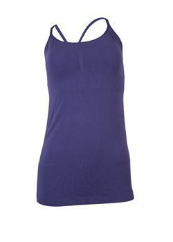 Crossover Strappy Tank with Bra Dusty Purple