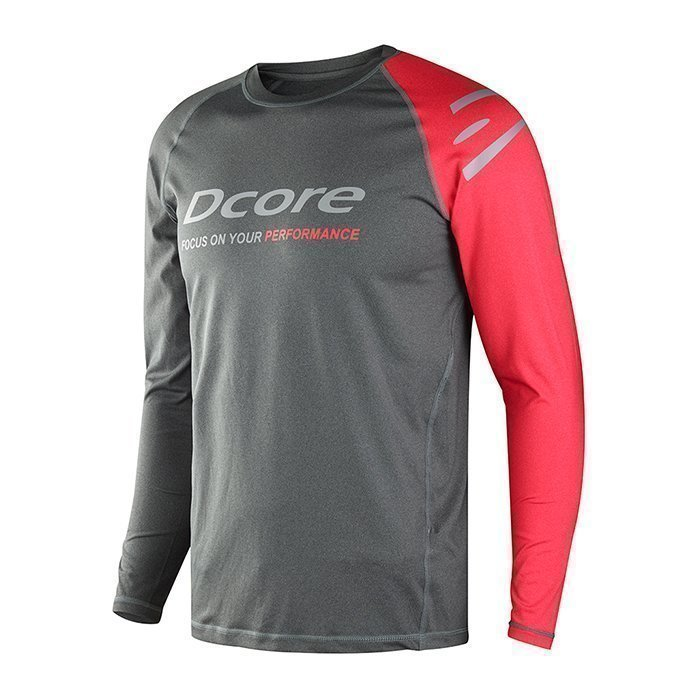 Dcore Asymmetric LS Black/Red L