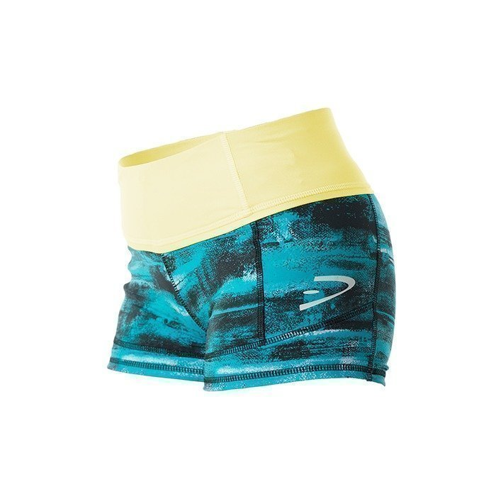 Dcore Athletic Static Shorts tuquoise/yellow