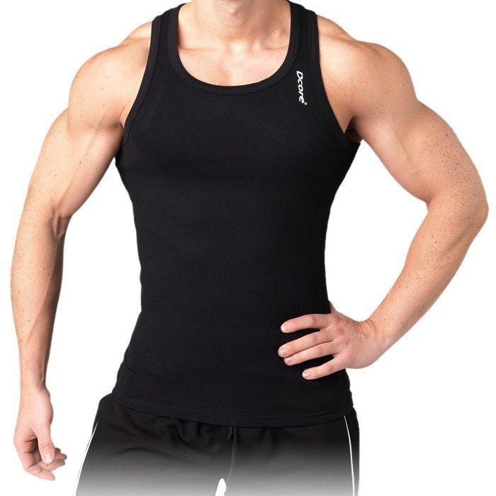 Dcore Bodydesigned rib singlet black XL