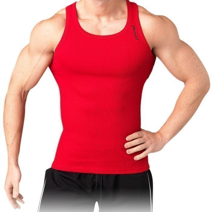 Dcore Bodydesigned rib singlet red XL