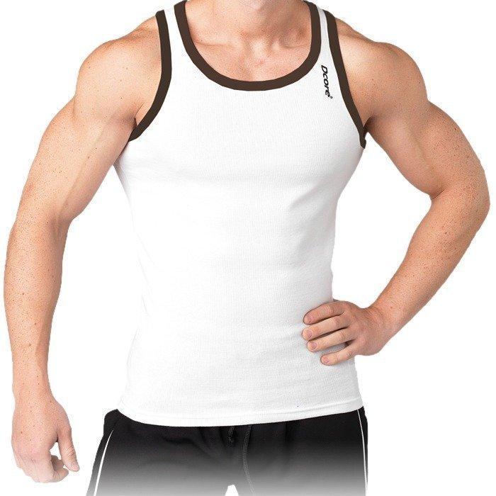 Dcore Bodydesigned rib singlet valkoinen/musta