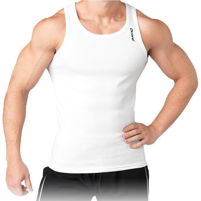 Dcore Bodydesigned rib singlet white XL