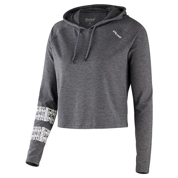 Dcore Cropped Loose Hoodie Grey XS