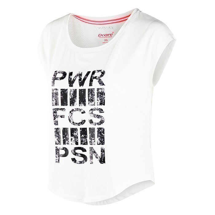 Dcore Cropped Power Tee White XS