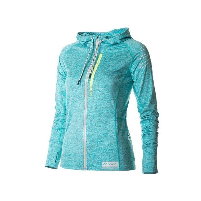 Dcore Symmetric Zip Hoodie turquoise L