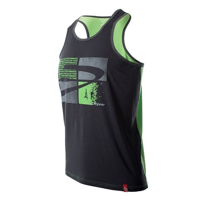 Dcore Tag PlatesTank Black/Green M