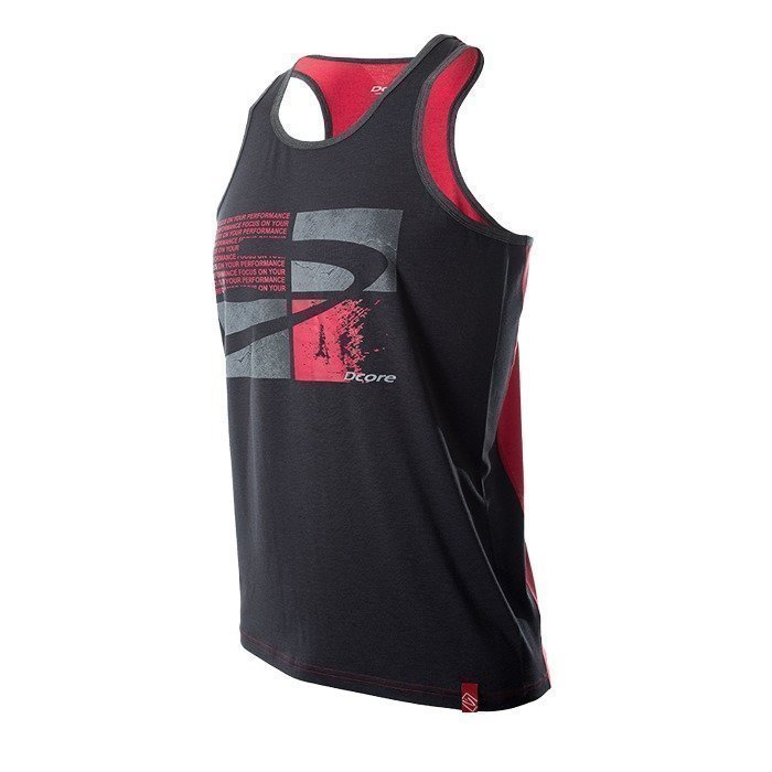 Dcore Tag PlatesTank Black/Red S