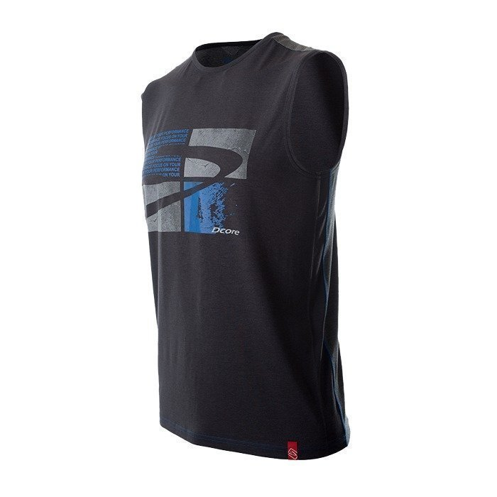 Dcore Tag Sleeveless Tee black/blue XL