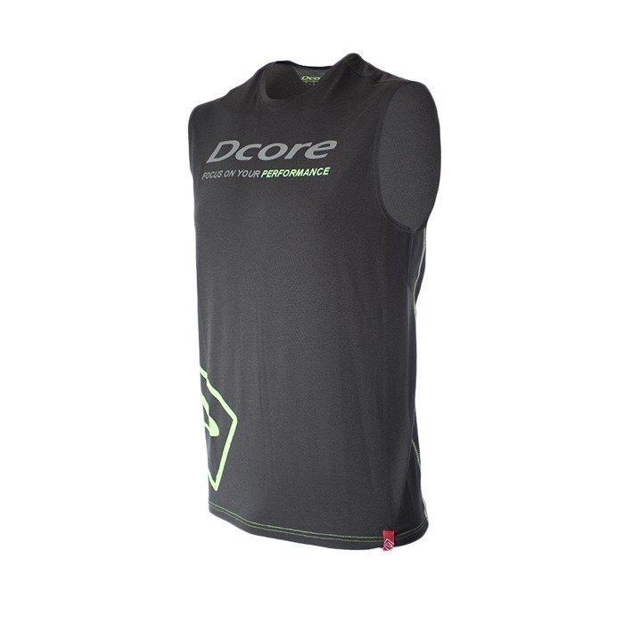 Dcore Tag Sleeveless Tee black/green flash S