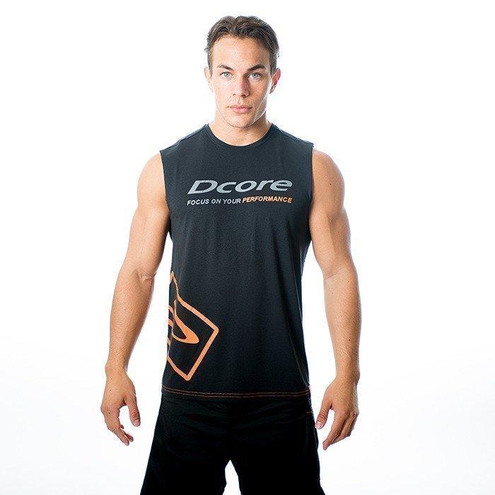 Dcore Tag Sleeveless Tee black/orange XL