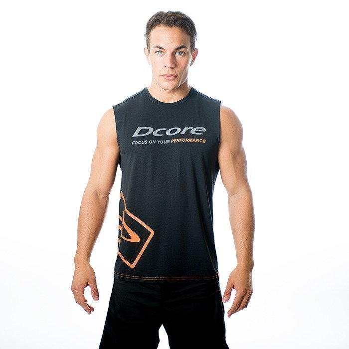 Dcore Tag Sleeveless Tee black/orange