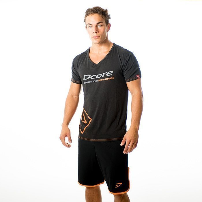 Dcore Tag Tee black/orange S