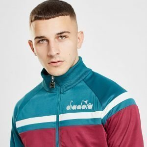 Diadora 80'S Track Top Teal / Burgundy