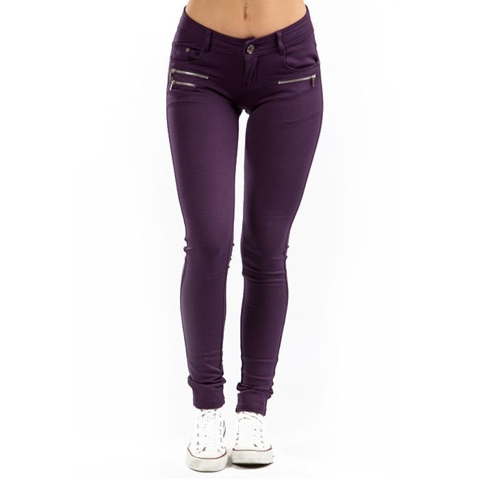 Drome Zipper Pant dark plum XS