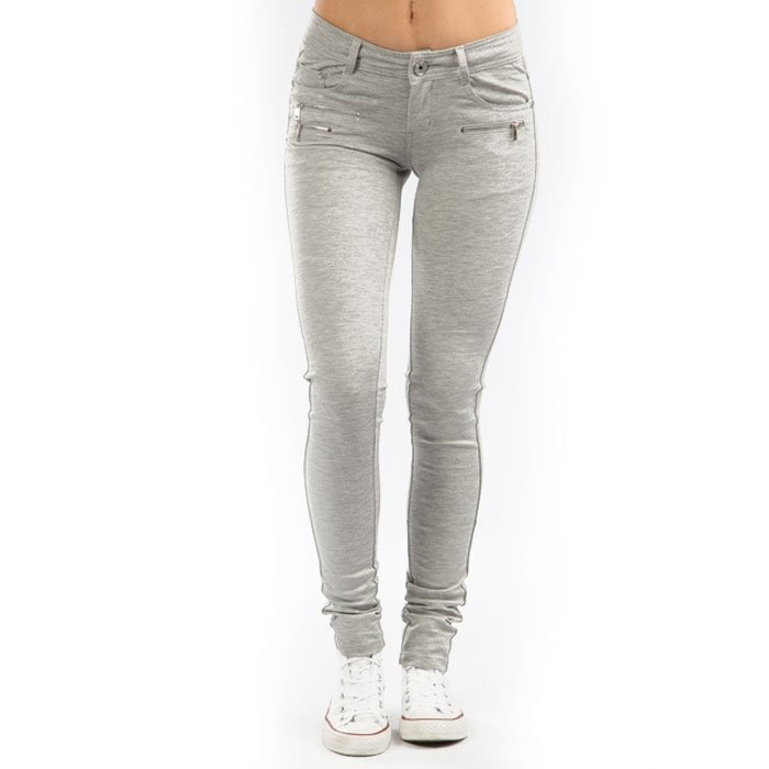 Drome Zipper Pant light grey melange