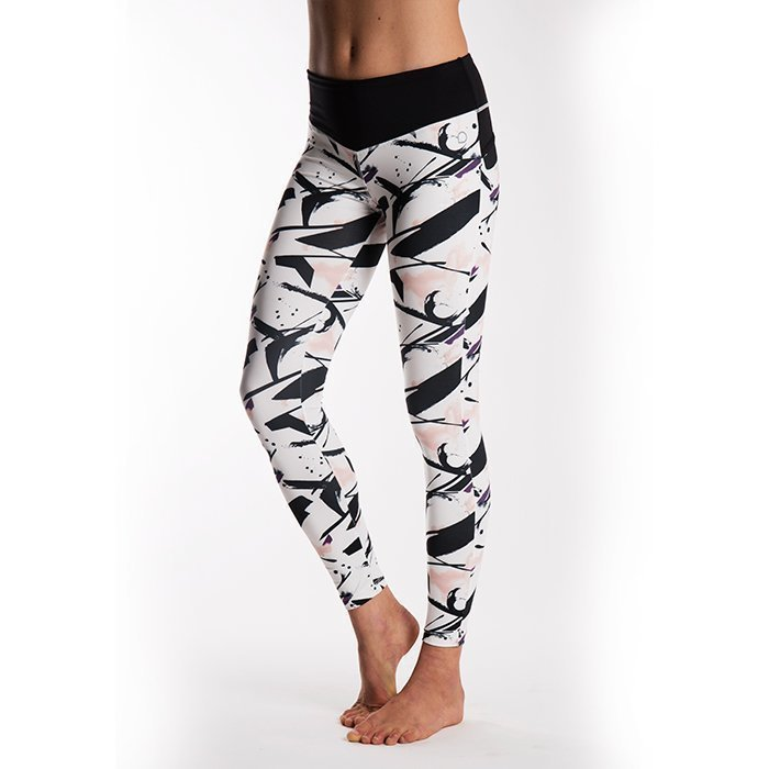 Drop of Mindfulness BOW II Tights Paint Print/Black Large