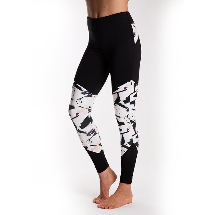 Drop of Mindfulness Ebba Tights Black/Paint Print Large