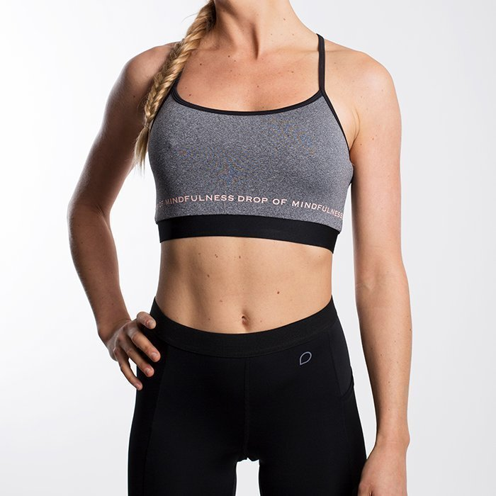 Drop of Mindfulness Freja Sports Bra Grey melange X-small
