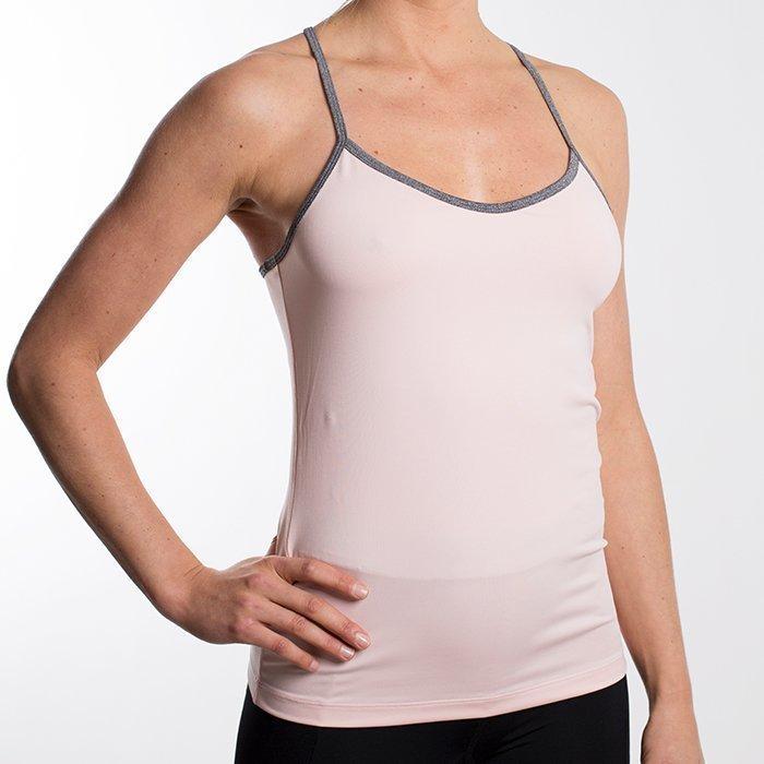 Drop of Mindfulness Isabelle Top Pink/Grey Melange Large