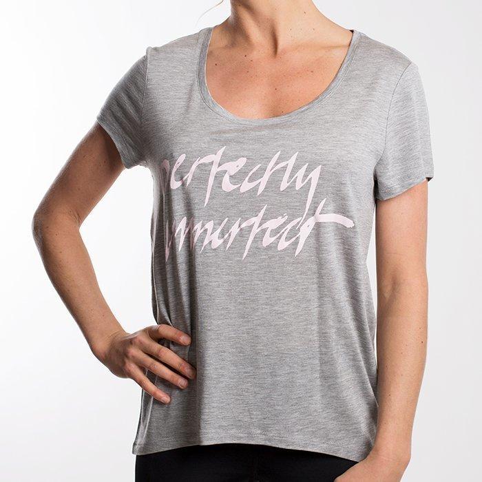 Drop of Mindfulness Isadora T-shirt Grey Melange Small