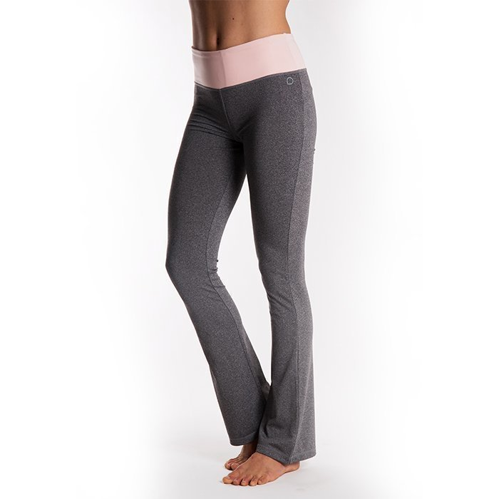 Drop of Mindfulness Queens Tights Grey Melange/Pink X-small