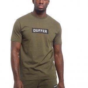 Duffer Of St George Logo T-Shirt Khaki