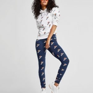 Ellesse All Over Print Logo Leggingsit Laivastonsininen