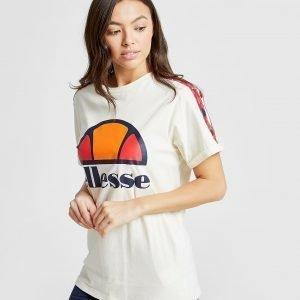 Ellesse Anne-Marie Stripe Boyfriend T-Shirt Kermanvalkoinen