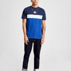 Ellesse Essen Colour Block T-Shirt Laivastonsininen