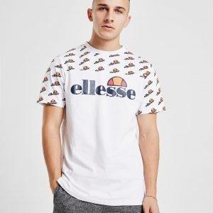 Ellesse Gozzi All Over Print T-Paita Valkoinen