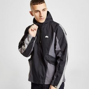 Ellesse Mannio Colour Block Hooded Jacket Musta