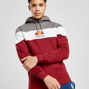 Ellesse Mazarino Colour Block Overhead Hoodie Burgundy / Grey / White