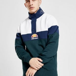Ellesse Palvino Colour Block 1/4 Zip Track Top Vihreä