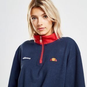 Ellesse Polar Fleece Crop 1/4 Zip Sweatshirt Sininen