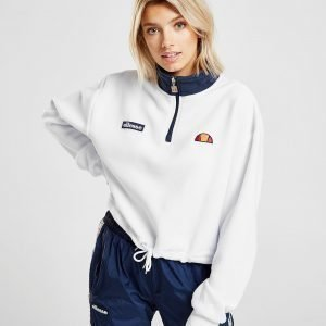 Ellesse Polar Fleece Crop 1/4 Zip Sweatshirt Valkoinen