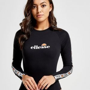 Ellesse Tape Long Sleeve Bodysuit Musta