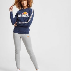 Ellesse Tape Long Sleeve Boyfriend T-Shirt Laivastonsininen