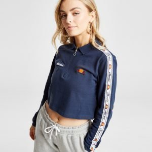 Ellesse Tape Long Sleeve Crop Poolopaita Sininen