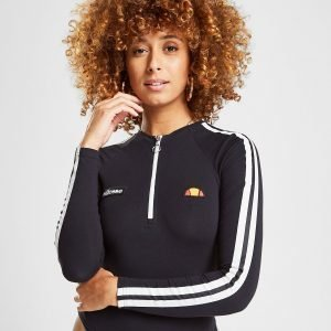 Ellesse Tape Zip Long Sleeve Bodysuit Musta