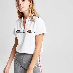 Ellesse Tipped Crop Polo Shirt Valkoinen