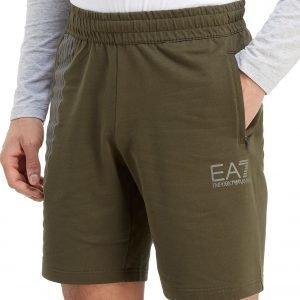 Emporio Armani Ea7 7 Lines Shorts Khaki / White