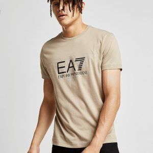 Emporio Armani Ea7 Central Eagle T-Paita Tan / Black