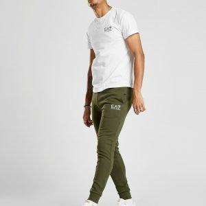 Emporio Armani Ea7 Core Fleece Track Pants Khaki / White