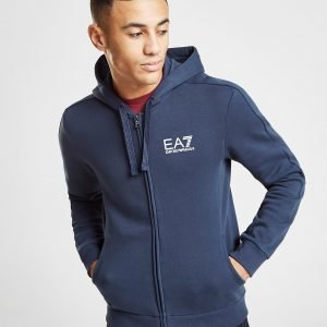 Emporio Armani Ea7 Core Zip Through Fleece Hoodie Sininen
