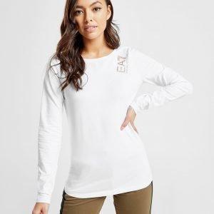 Emporio Armani Ea7 Crew Long Sleeve T-Shirt Valkoinen