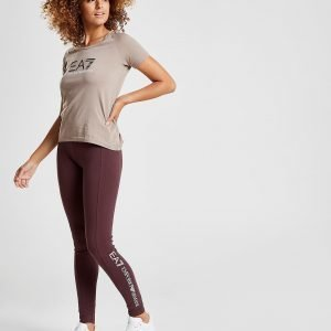 Emporio Armani Ea7 Leggings Burgundy / White