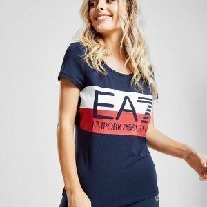 Emporio Armani Ea7 Logo Stripe T-Shirt Laivastonsininen